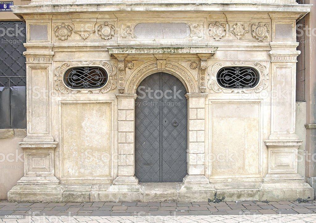 renaissance iron door stock photo