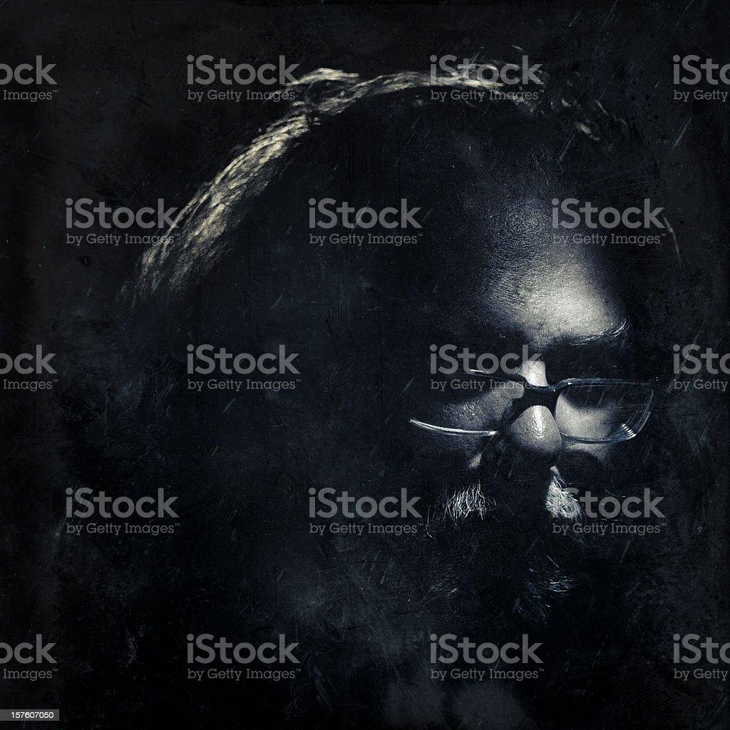 renaissance man in the dark stock photo
