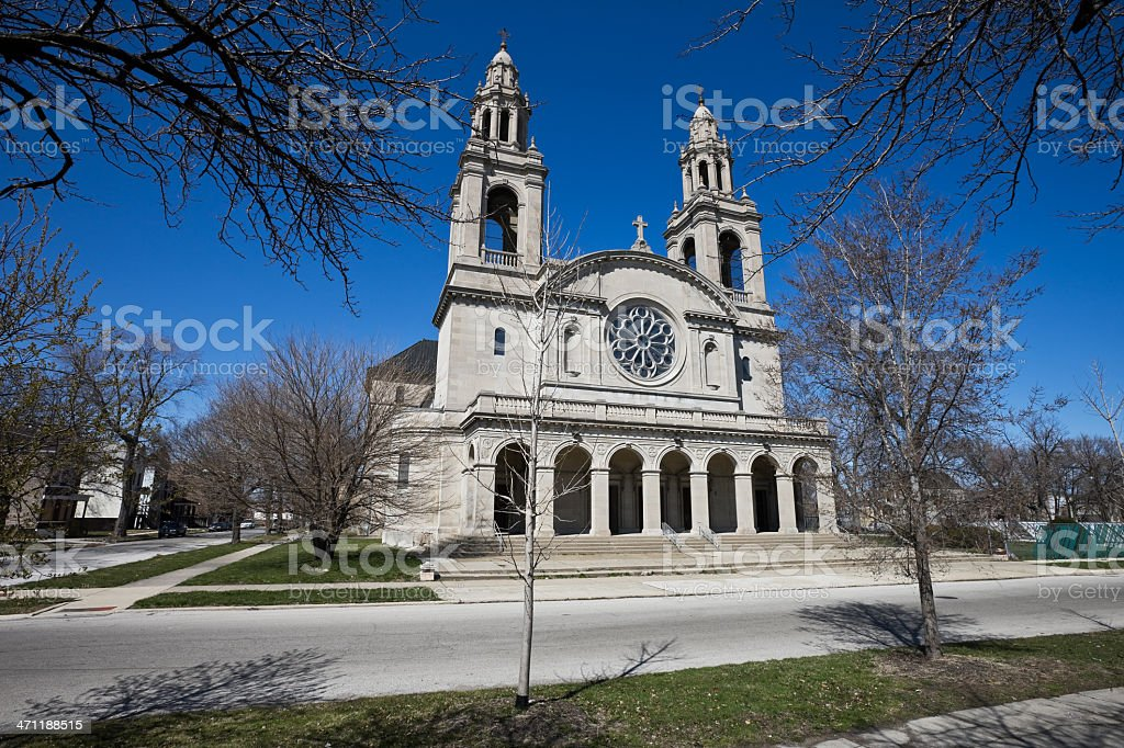 Renaissance style Church in Chicago royalty-free stock photo
