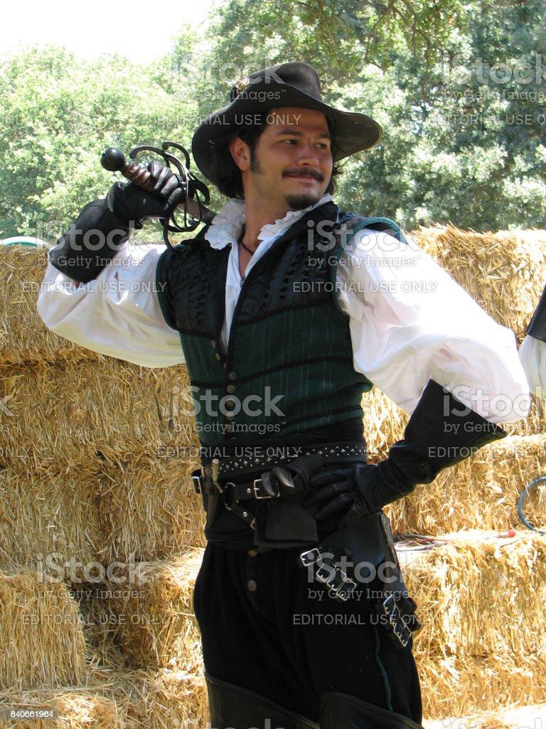 Renaissance Swordsman stock photo