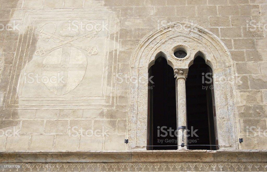 Renaissance window royalty-free stock photo