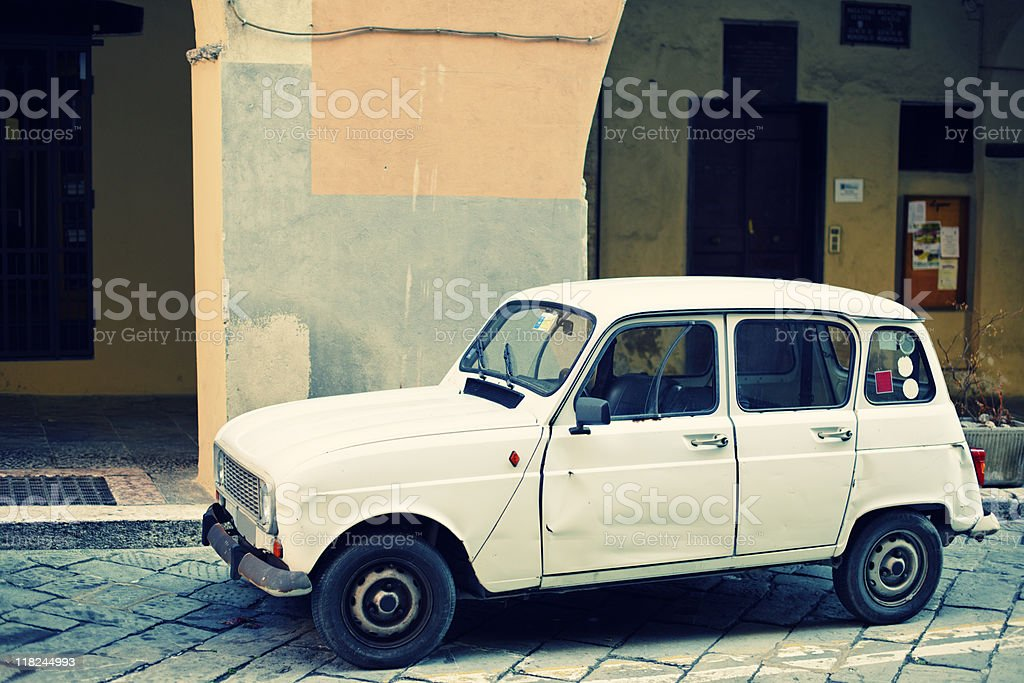 Renault 4, Cross Processing. Color Image stock photo