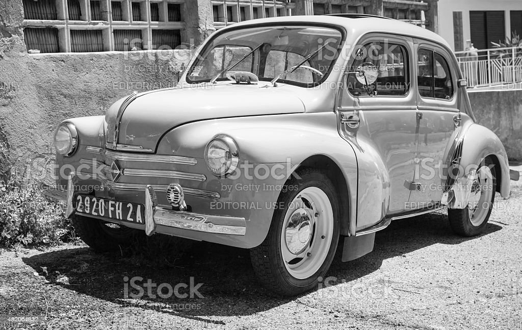 Renault 4CV white old-timer economy car