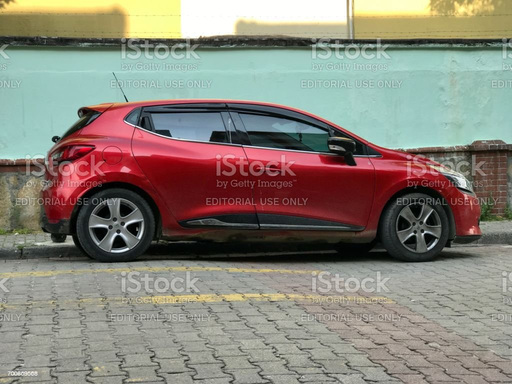 Renault car parking in the street stock photo