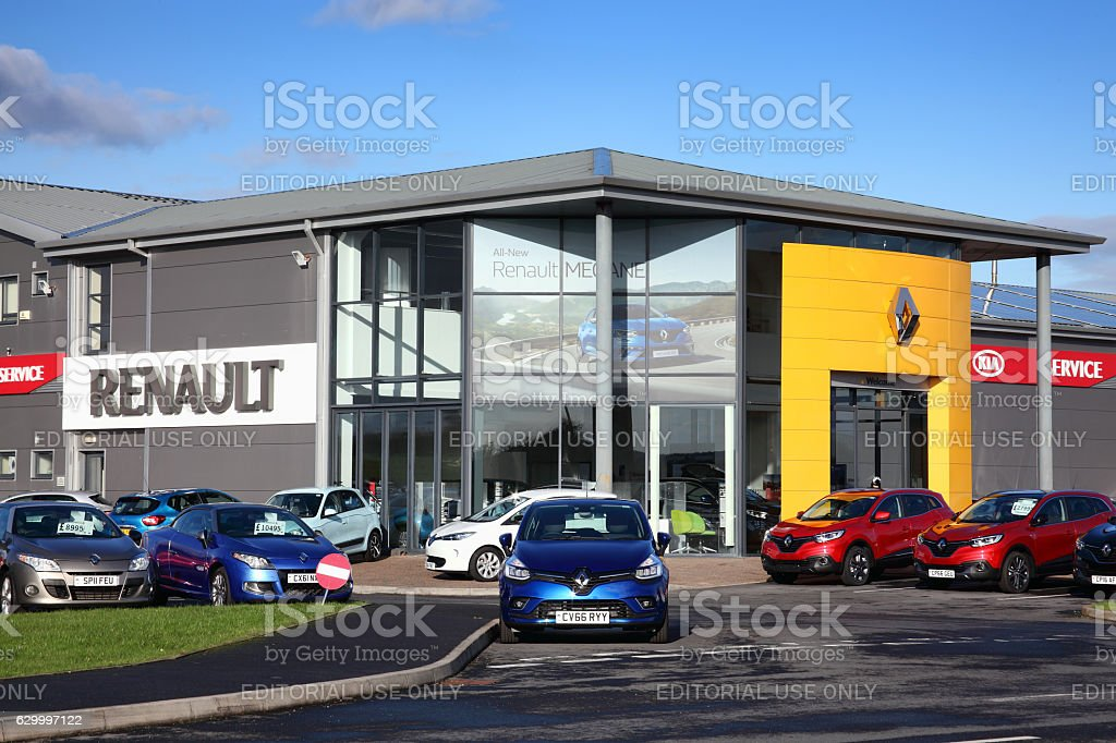 Renault car showroom stock photo