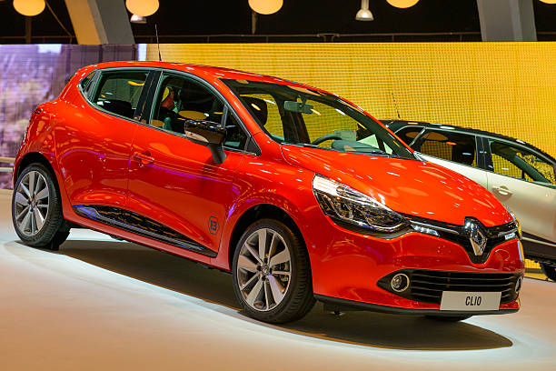 Renault Clio Brussels, Belgium - January 14, 2014: Renault Clio hatchback on display at the 2014 Brussels motor show.  2014 stock pictures, royalty-free photos & images