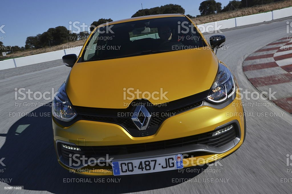Renault Clio RS at the racetrack stock photo