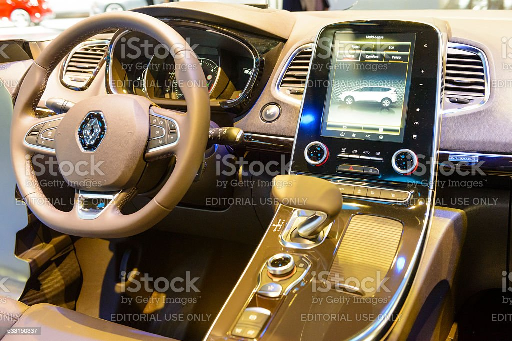 Renault Espace Large Mpv Interior Stock Photo & More Pictures of ...