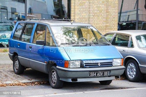 Berlin, Germany - August 12, 2014: Passenger van Renault Espace in the city street.