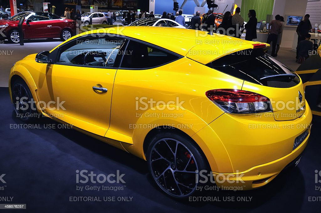 Renault Megane RS hatchback car rear view royalty-free stock photo