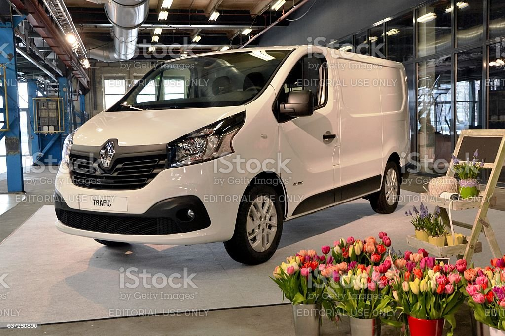Renault Trafic on the international premiere stock photo