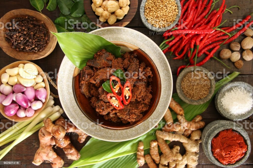 Rendang Padang Among Traditional Spices And Herbs Stock Photo Download Image Now Istock