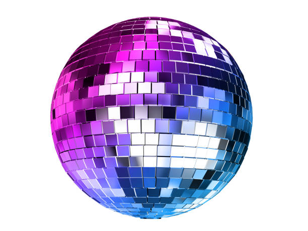 Render 3d illustration of color disco ball isolated on white background. Render 3d illustration of color disco ball isolated on white background. disco ball stock pictures, royalty-free photos & images