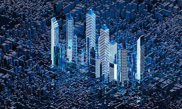 Render Abstract city - foto de stock