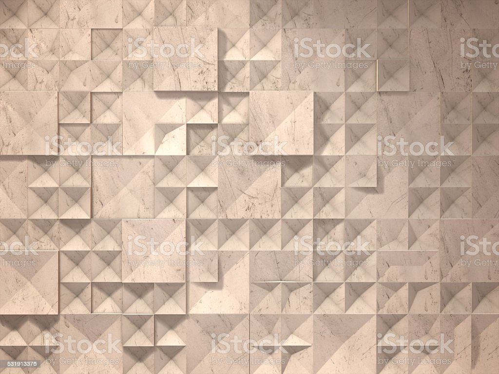 3D render ,Abstract concrete geometric polygon background royalty-free stock photo