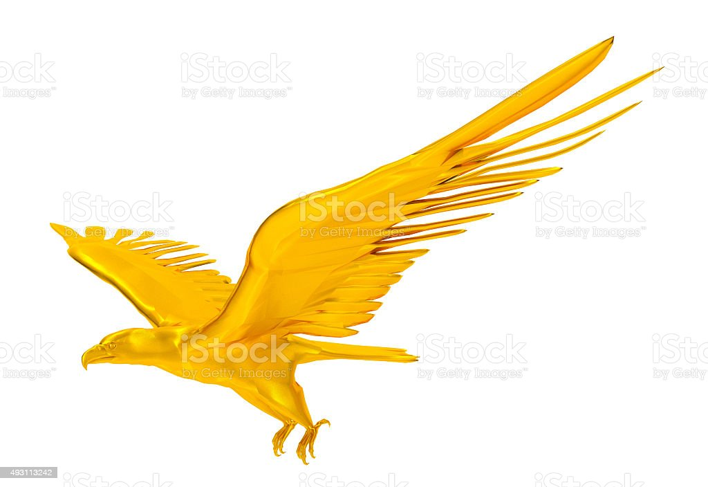 Rendu 3D de golden eagle sur fond blanc - Photo