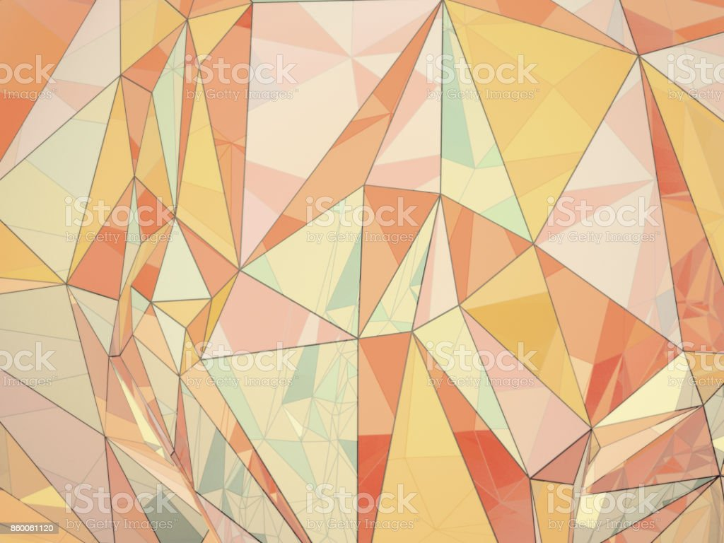 Render illustration of multicolor abstract polygonal background stock photo