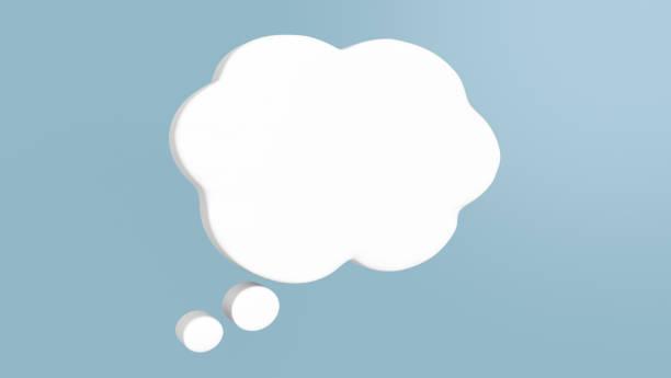 3D render illustration of word balloon icon symbol of communication stock photo