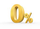 istock 3D Render image of zero percentage graphic for sales purpose 1219852992