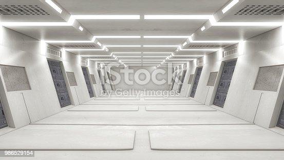 830306120 istock photo 3D render Interior and futuristic architecture design 986529154