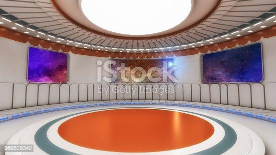 830306120 istock photo 3D render Interior and futuristic architecture design 986529342