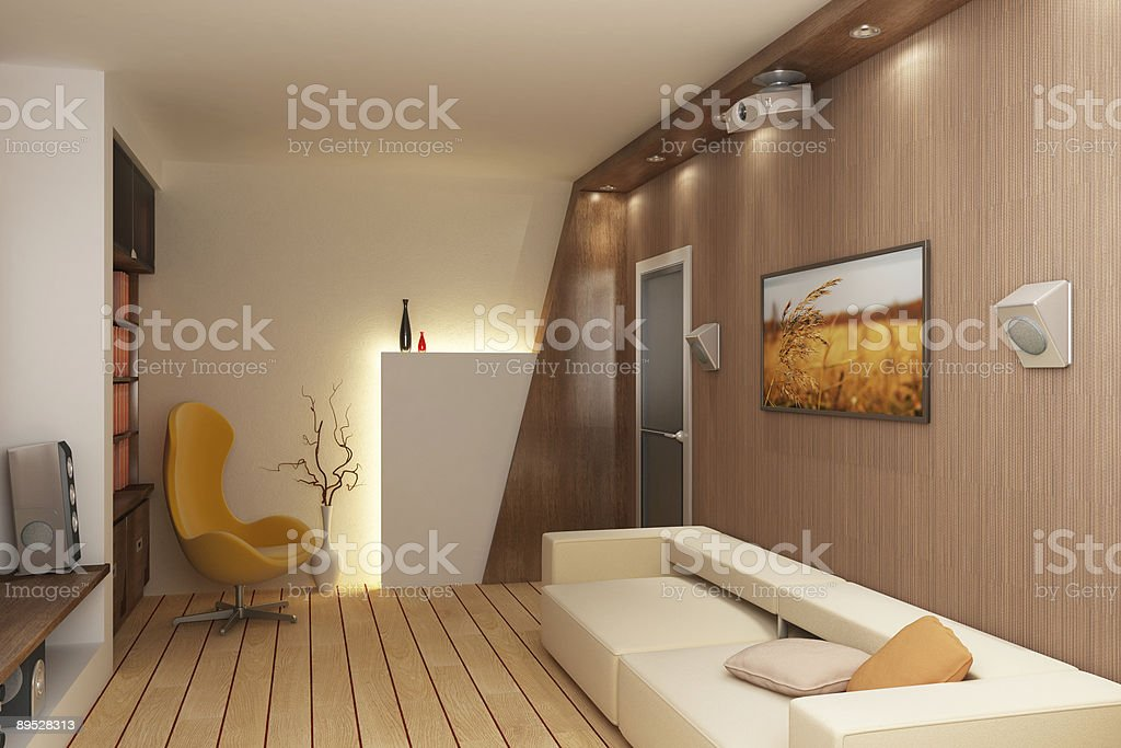 3D render interior royalty-free stock photo