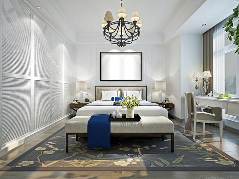 3D Render Modern Bedroom