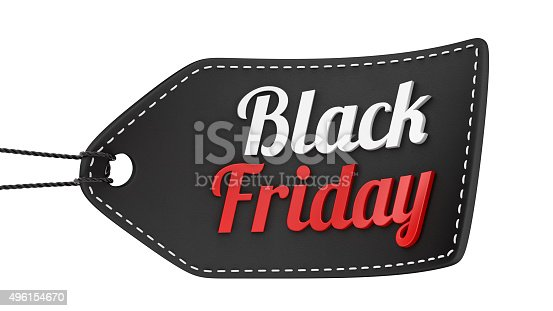 istock render of a Black Friday price tag 496154670