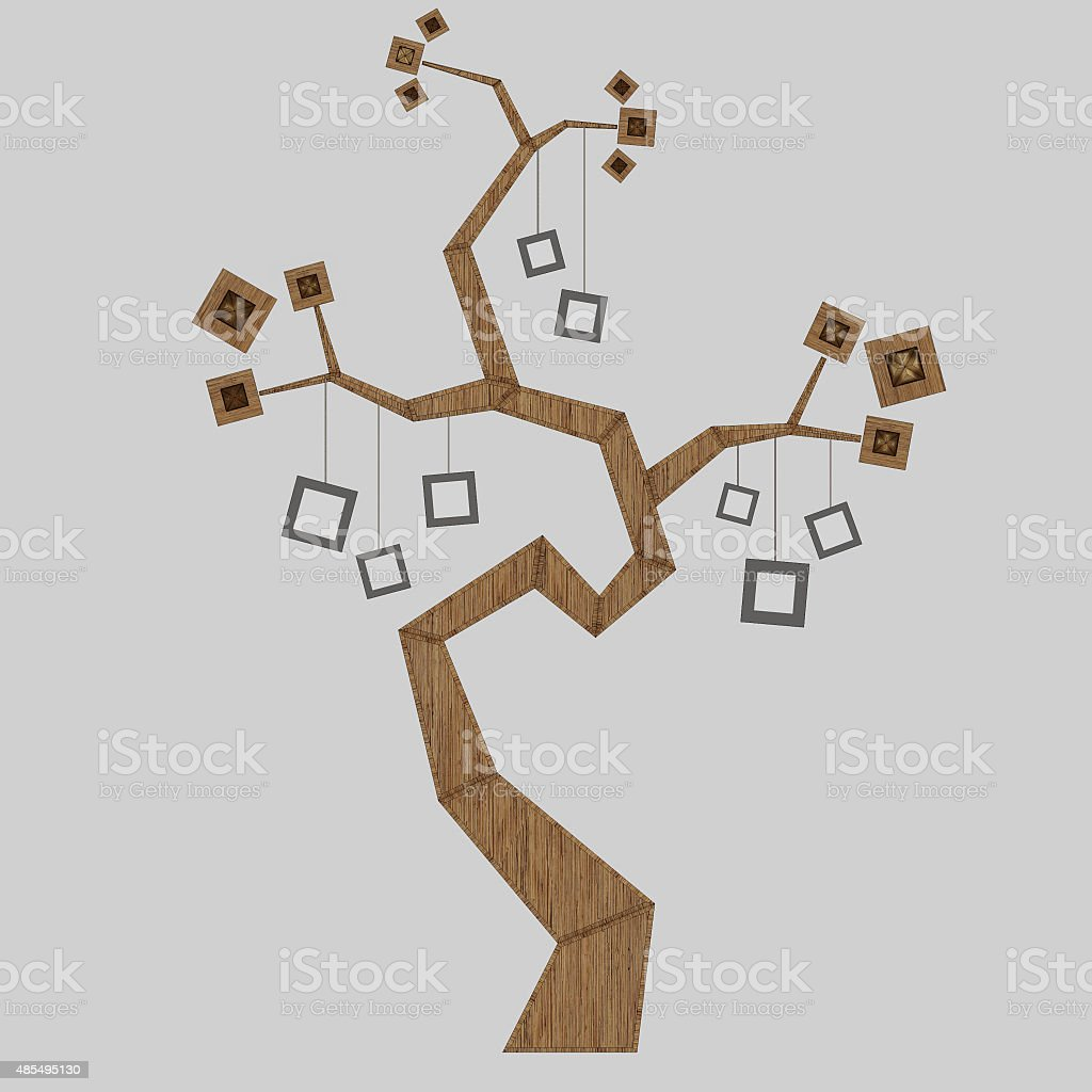 3D render of a family tree stock photo