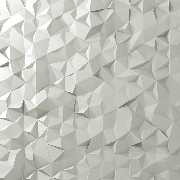3d render of abstract triangle tiles background - forme bidimensionnelle photos et images de collection