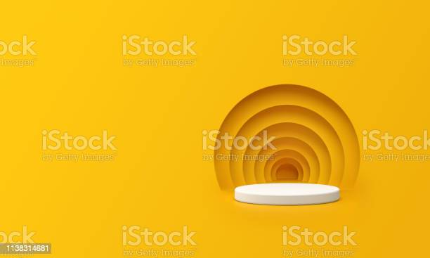 Render of abstract yellow composition with podium minimal studio with picture id1138314681?b=1&k=6&m=1138314681&s=612x612&h=903vnpikqohshic9plcsnjggkgnphorejievpngnibo=