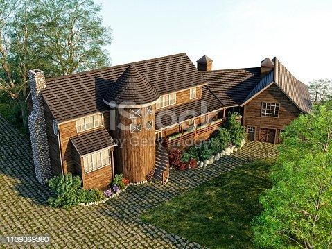 821915804 istock photo 3D Render of building exterior 1139069360