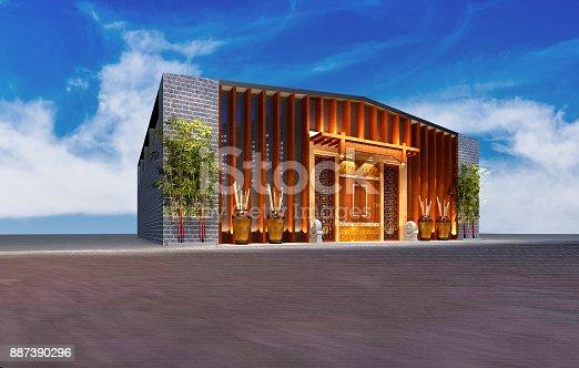 585292106 istock photo 3D render of building exterior 887390296