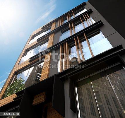 istock 3D render of Building Exterior 909936010