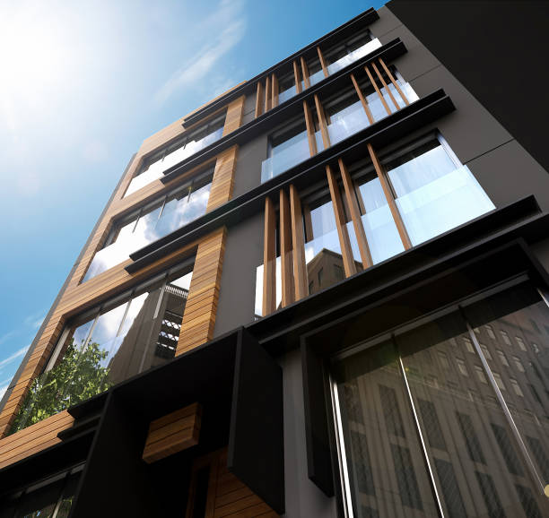 3D render of Building Exterior stock photo