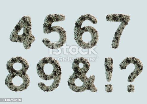 491530224 istock photo 3D Render of Fur Alphabet 1149281815