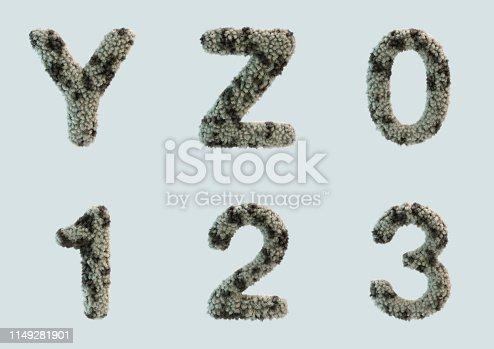 491530224 istock photo 3D Render of Fur Alphabet 1149281901