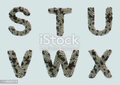 491530224 istock photo 3D Render of Fur Alphabet 1149282018