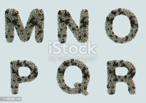 491530224 istock photo 3D Render of Fur Alphabet 1149282145