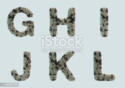 491530224 istock photo 3D Render of Fur Alphabet 1149282259