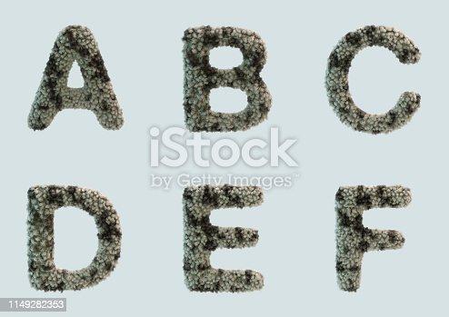 491530224 istock photo 3D Render of Fur Alphabet 1149282353