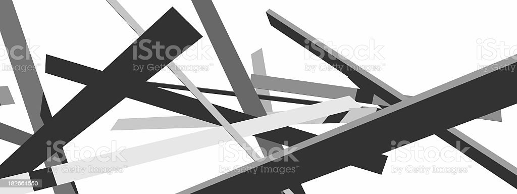 3D render of grey shapes on white royalty-free stock photo