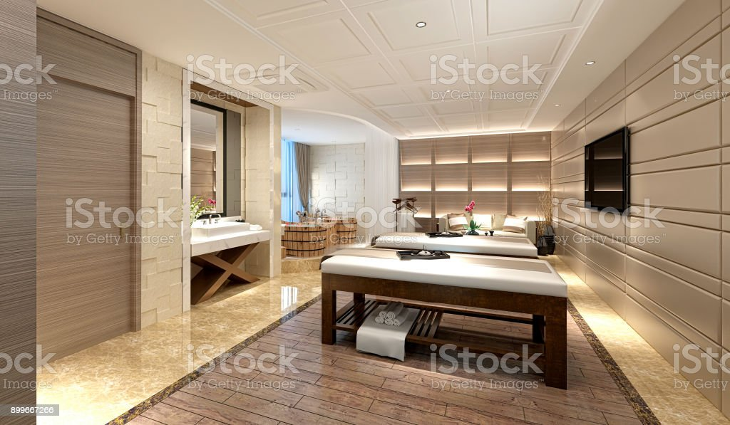 3d Render Of Luxury Massage Room Stock Photo