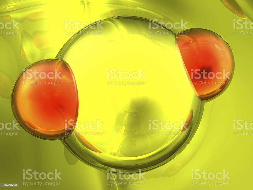 Render of molecule royalty-free stock photo