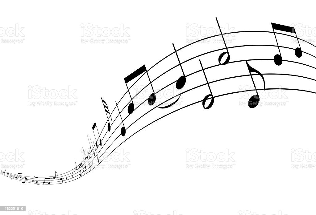 Render of music notes fading in royalty-free stock photo