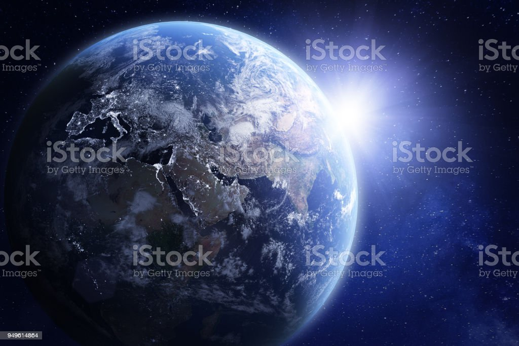 3D render of planet Earth from space, elements from NASA stock photo