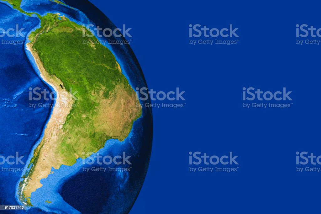 3D render of planet Earth with South America in main focus. - fotografia de stock
