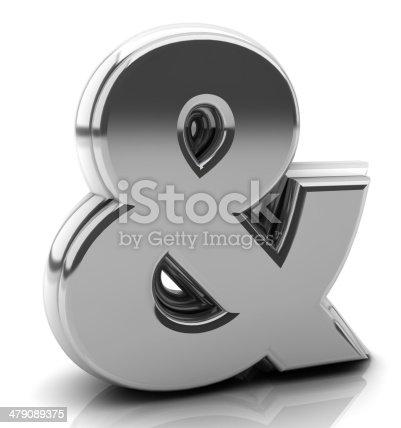 istock Render silver ampersand 479089375