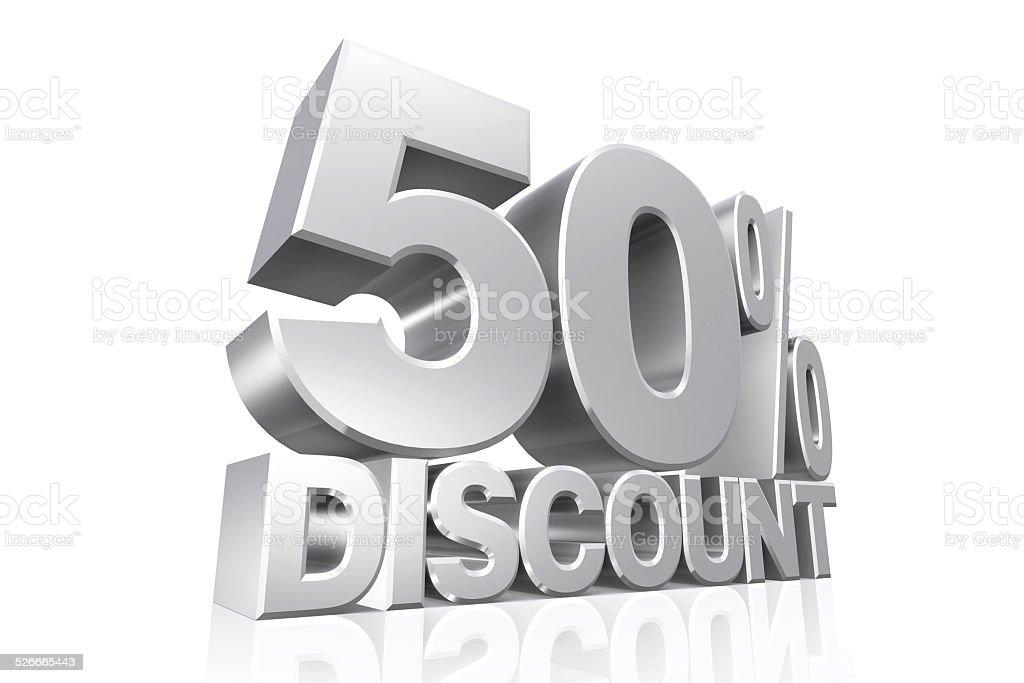 Number 50 Percentage Sign Three Dimensional Shape Sale