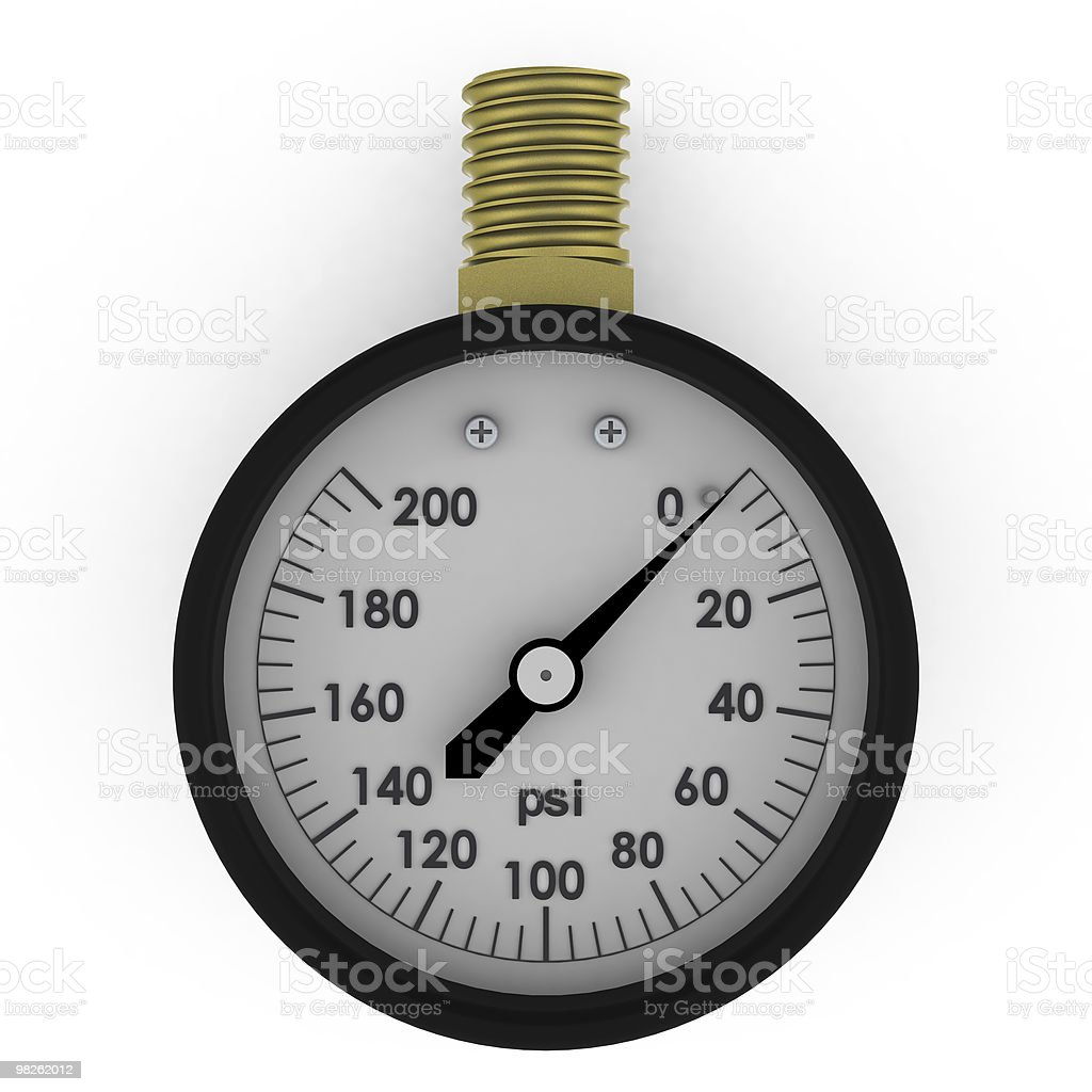 Rendered 3d pressure gauge royalty-free stock photo